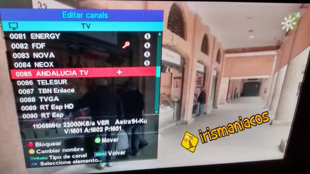 IRIS 9700 HD - Como editar,mover y borrar canales
